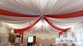 dekoracja  czerwono biała