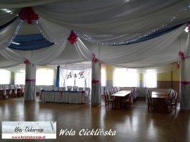 dekoracja sali Wola Cieklińska