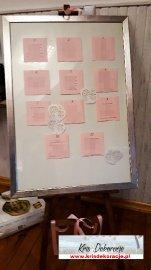 Tablica do rozplanowania Gości Weselnych
